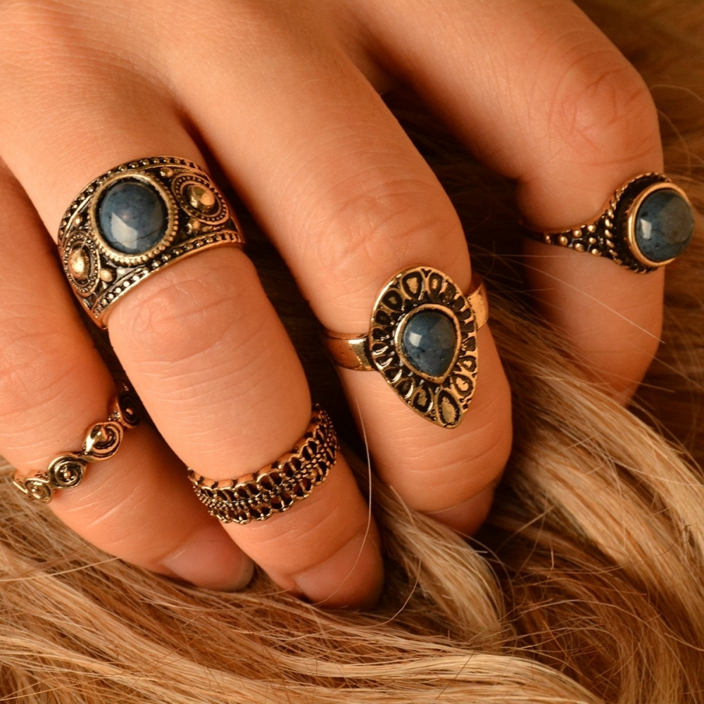 Vintage style fashion rings 56