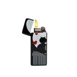 Mini Briquet - design Cœur - Noir/Rouge