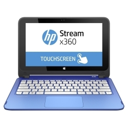 "PC PORTABLE HP Stream X360 - Écran Tactile 11.6"" - 32 GO Flash- Windows 10 - Bleu"