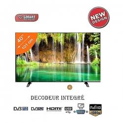 SMART TECHNOLOGY TV LED STT-9040 - 40 Pouces - Full HD - Décodeur Intégré - Noir - Garantie 12 Mois