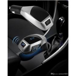 X5 - Kit Bluetooth Main Libres pour voiture - Appels - Transmetteur FM - Noir