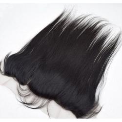 frontal lace cheveux Humain lisse longueur 14 - Type bresilienne meche - raide brazilian human hair longueur 14
