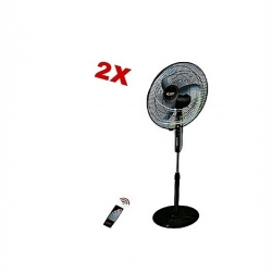 2 Ventilateur Telecommande - diamètre 40.64 Cm -NOIR- garantie -3 mois