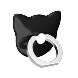 Bague support anneau chat pour smartphone - Noir