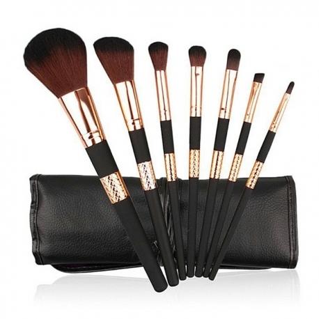 Kit de 7 pinceaux noir et bronze