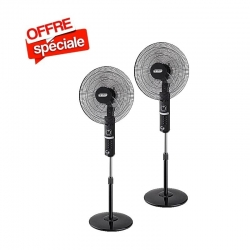 "Ventilateurs 18"" Smart Technology- STV-512 -X 2PCS Noir"