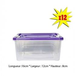 Boites De Conservation(Lot De 12 ) 1L - Boite Transparente - Plastique-TAJPLAST