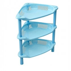 Petite Étagère En Plastique - Bleu-TAJPLAST
