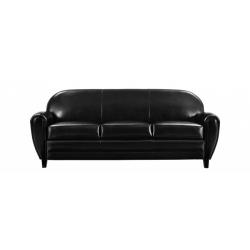 Canapé DUC noir 3places + 2 coussins - Sur commande