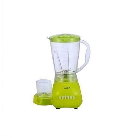 iLUX Blender 2 En 1 LX-280 - 1.5 Litres - 350W - 4 Niveaux De Vitesse + Fonction Pulse - Vert - Garantie 3 Mois