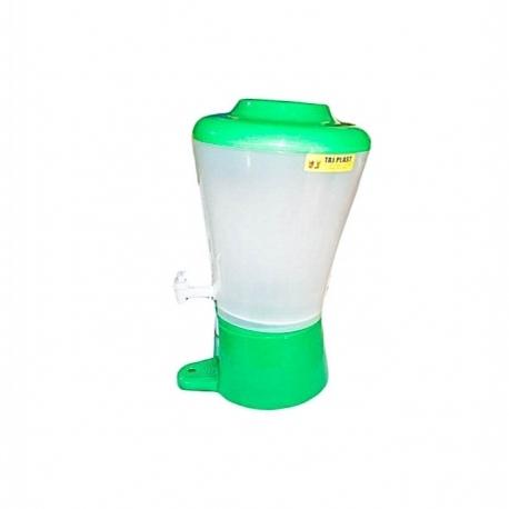 Distributeur De Boissons - 9 Litres - Plastique - Tube à Glace - Vert- TAJPLAST