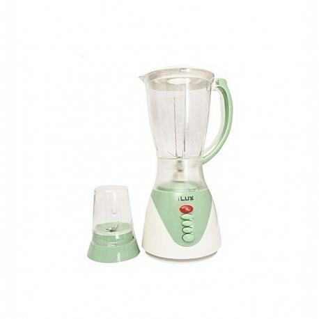 iLUX Blender 2 En 1 LX-870 - 1.5 Litres - 350W - 3 Niveaux De Vitesse - Blanc/vert - Garantie 3 Mois
