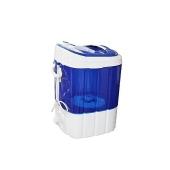 iLUX Machine à Laver 3 Kg - WLX-2008 - Lavage Efficace - Bleu/Blanc - Garantie 6 Mois