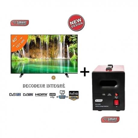 pack tv 40 pouces et stabilisateur 2000va smart. Black Bedroom Furniture Sets. Home Design Ideas
