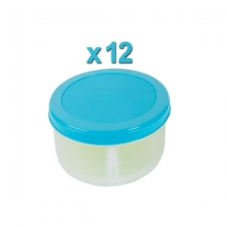 Boite ronde 500ml X12 en plastique - TAJPLAST