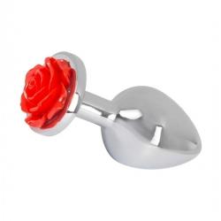 Gode Anal en Aluminium - Rose Butt Plug - Taille Moyen