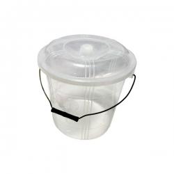 Sceau 10 L Africa en plastique avec couvercle - Transparent - TAJPLAST