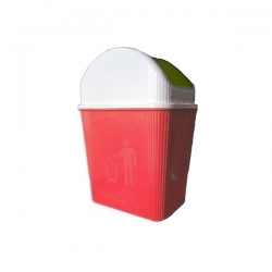 Corbeille En Plastique 3L – Multi-usage - ROUGE -TAJPLAST