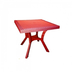 Table Royale en plastique - ROUGE - TAJPLAST