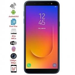 "Samsung Galaxy J6 -5,6""-4G - 13Mpx-64Go/4Go-bleu Empreinte digitale - Reconnaissance faciale - 8MP/13MP - 3000mAh"