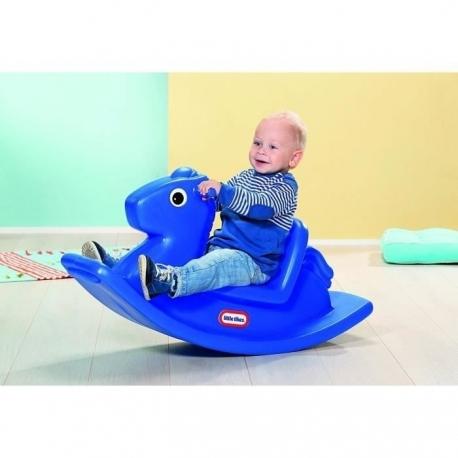 Jouet de Cheval à Bascule en Plastique - bleu