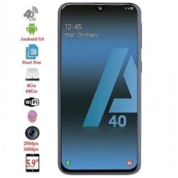 """Samsung A40- 5.9"""" -25Mpx -64 Go- 4Go-noir"""