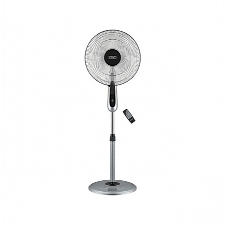 Solstar Ventilateur Sur Pieds FSR 1642 SS Avec Télécommande - Gris /Argent