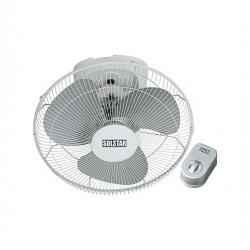 Solstar Ventilateur Plafond FB 1601H - WH SS - Blanc/argent