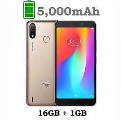 "ITEL P33 Plus - 6.0"" - 5 000 MAh - 16Go / 1 Go Ram - Dual Camera - 8.0 Mpx - Or"