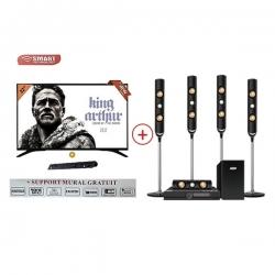 Pack smart technology - TV LED - 32 Pouces - HD - Décodeur Intégré STT-9032 + HOME CINÉMA - STH-9988 - PSTTH-9032_9988