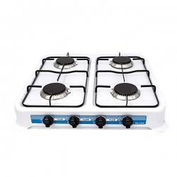 iLUX - Rechaud à gaz - iLUX - GS-7400 - 4 Feux - Allumage automatique - Blanc