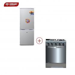 PACK SMART TECHNOLOGY RENTREE SCOLAIRE- Réfrigérateur Combiné - STCB-185H + Cuisinière - Gaz 4 Feux Avec Four STC-5050S - STRC-4
