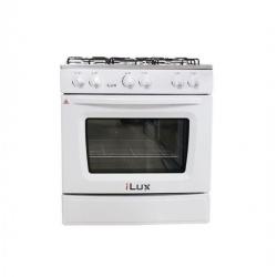 Ilux Cuisinière à Gaz - 5 Feux - LX-76W - Double Vitrage - Blanc