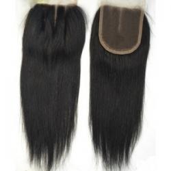 CLOSURE Cheveux Humain Lisse Longueur 10- Type bresilienne - multi raie