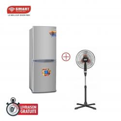 """PACK SMART TECHNOLOGY - Réfrigérateur Combiné - STCB-237H - 166 L - Argent + Ventilateurs 16"""" - STV-447 - STRV-02"""