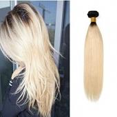 MECHE CHEVEUX HUMAIN LISSE LONGUEUR 14 couleur blond - TYPE BRESILIENNE - RAIDE BRAZILIAN HUMAN HAIR LONGUEUR 14 couleur blond