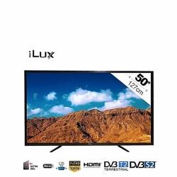 iLUX TV LED 50 Pouces Full HD - Décodeur Satellite Intégré - HDMIx3 - Noir