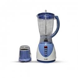 Ilux Blender & Grinder LX-1731 - 2 En 1 - 1.5 L - 3 Vitesses - Blanc/Bleu - Garantie 3 Mois