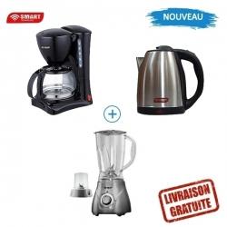 PACK SMART TECHNOLOGY - MACHINE À CAFÉ - STPE-1206C + BOUILLOIRE - STPE-249S + BLENDER STPE-1020G - PSTMBB-04