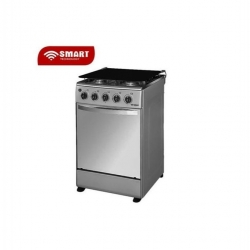 GAZINIERE-SMART TECHNOLOGY - Inox- Gaz 4 Feux Avec Four STC-5050SK