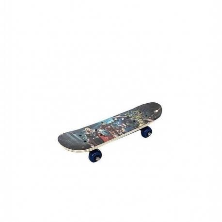 Skateboard Pour Enfant Et Adolescent -7-12ans - Joli Motif - Multicolore