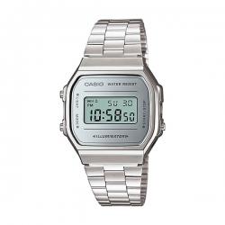 Casio - montre en acier avec affiche numérique - A168