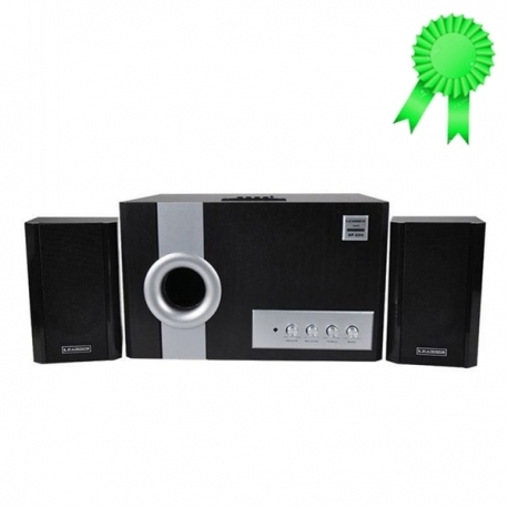 Leadder Haut-Parleur Multimédia Bluetooth Woofer - SP-22B - FM/SD/USB/Aux - 12 V - Noir