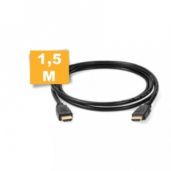 CÂBLE HDMI 1.4 PLAQUÉ OR / FULL HD / HAUTE VITESSE / NOIR / 1.50M