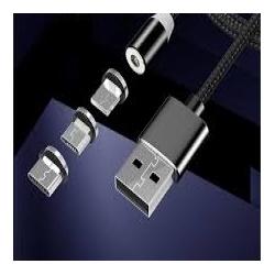 Câble Magnétique USB LED- 3 bouts en 1
