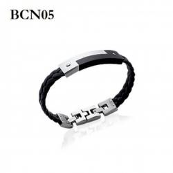 Bracelet Homme En Simili Cuir - Noir