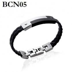Bracelet Mixte - Noir/cuire