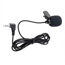 Mini Microphone à Cravate Portable YW-001 Avec Pince Et Jack 3,5 Mm - Noir