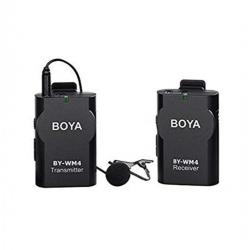 BOYA BY-WM4 Sans Fil Micro-cravate Système Pour Caméscope Appareil Photo Smartphone - Noir