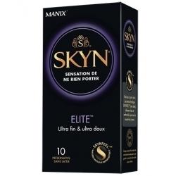 SKYN ELITE X 10 - PRRESERVATIF ULTRA-FIN & ULTRA-DOUX - Sans latex - MANIX